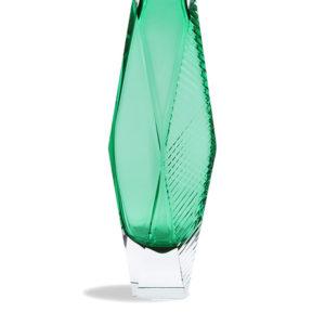 Vase San Marco - Green Engraved - size: XXL