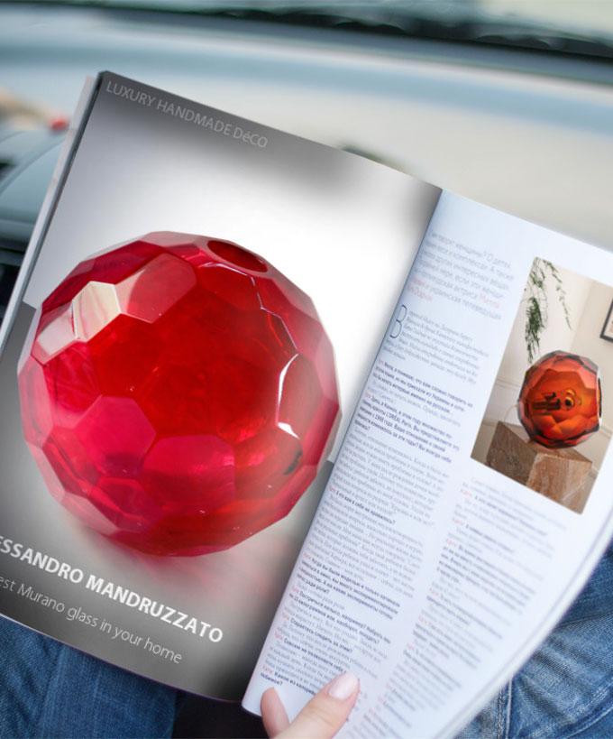 Murano Glass Diamond Collection Sphere